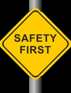 Achte auf deine Sicherheit
